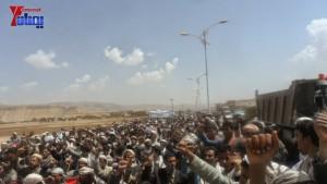 الالاف يشيعون 6 من شهداء مجزرة الضبر بعمران التي ارتكبتها قوات القشيبي بحق مسيرة سلمية (10)