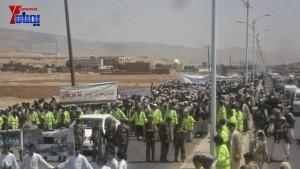 الالاف يشيعون 6 من شهداء مجزرة الضبر بعمران التي ارتكبتها قوات القشيبي بحق مسيرة سلمية (16)