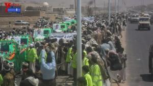 الالاف يشيعون 6 من شهداء مجزرة الضبر بعمران التي ارتكبتها قوات القشيبي بحق مسيرة سلمية (23)