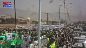 الالاف يشيعون 6 من شهداء مجزرة الضبر بعمران التي ارتكبتها قوات القشيبي بحق مسيرة سلمية (27)