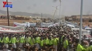 الالاف يشيعون 6 من شهداء مجزرة الضبر بعمران التي ارتكبتها قوات القشيبي بحق مسيرة سلمية (47)