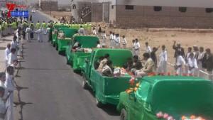 الالاف يشيعون 6 من شهداء مجزرة الضبر بعمران التي ارتكبتها قوات القشيبي بحق مسيرة سلمية (50)