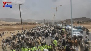 الالاف يشيعون 6 من شهداء مجزرة الضبر بعمران التي ارتكبتها قوات القشيبي بحق مسيرة سلمية (52)