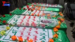 الالاف يشيعون 6 من شهداء مجزرة الضبر بعمران التي ارتكبتها قوات القشيبي بحق مسيرة سلمية (56)