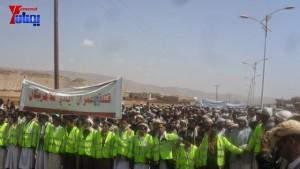 الالاف يشيعون 6 من شهداء مجزرة الضبر بعمران التي ارتكبتها قوات القشيبي بحق مسيرة سلمية (6)