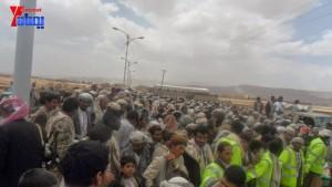الالاف يشيعون 6 من شهداء مجزرة الضبر بعمران التي ارتكبتها قوات القشيبي بحق مسيرة سلمية (61)