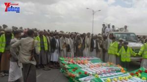 الالاف يشيعون 6 من شهداء مجزرة الضبر بعمران التي ارتكبتها قوات القشيبي بحق مسيرة سلمية (62)