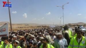 الالاف يشيعون 6 من شهداء مجزرة الضبر بعمران التي ارتكبتها قوات القشيبي بحق مسيرة سلمية (7)