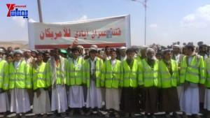الالاف يشيعون 6 من شهداء مجزرة الضبر بعمران التي ارتكبتها قوات القشيبي بحق مسيرة سلمية (8)