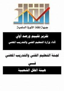 تقرير تقييم ورصد أولي لأداء وزارة التعليم الفني والتدريب المهني (1)
