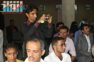 فعالية احياء الذكرى الـ15 لرحيل البردوني التي احيتها جبهة الانقاذ في بيت الثقافة بصنعاء (42)