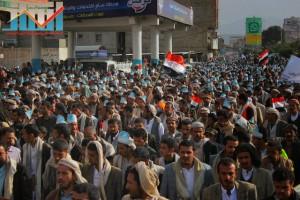 مسيرة انتهاء المهلة وبدء التصعيد الثوري التي انطلقت عصر اليوم 21فبراير من ساحة التغيير بصنعاء (10)