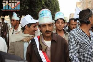 مسيرة انتهاء المهلة وبدء التصعيد الثوري التي انطلقت عصر اليوم 21فبراير من ساحة التغيير بصنعاء (100)