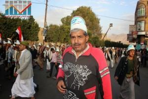 مسيرة انتهاء المهلة وبدء التصعيد الثوري التي انطلقت عصر اليوم 21فبراير من ساحة التغيير بصنعاء (106)