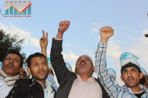 مسيرة انتهاء المهلة وبدء التصعيد الثوري التي انطلقت عصر اليوم 21فبراير من ساحة التغيير بصنعاء (111)