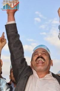 مسيرة انتهاء المهلة وبدء التصعيد الثوري التي انطلقت عصر اليوم 21فبراير من ساحة التغيير بصنعاء (114)