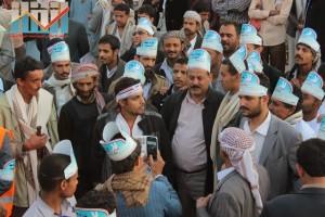 مسيرة انتهاء المهلة وبدء التصعيد الثوري التي انطلقت عصر اليوم 21فبراير من ساحة التغيير بصنعاء (119)