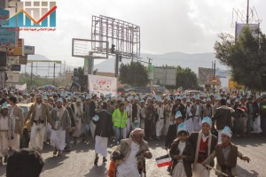 مسيرة انتهاء المهلة وبدء التصعيد الثوري التي انطلقت عصر اليوم 21فبراير من ساحة التغيير بصنعاء (12)