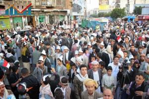 مسيرة انتهاء المهلة وبدء التصعيد الثوري التي انطلقت عصر اليوم 21فبراير من ساحة التغيير بصنعاء (122)