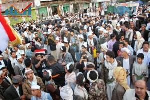 مسيرة انتهاء المهلة وبدء التصعيد الثوري التي انطلقت عصر اليوم 21فبراير من ساحة التغيير بصنعاء (125)