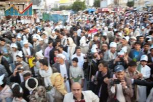 مسيرة انتهاء المهلة وبدء التصعيد الثوري التي انطلقت عصر اليوم 21فبراير من ساحة التغيير بصنعاء (126)
