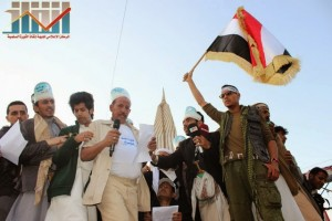 مسيرة انتهاء المهلة وبدء التصعيد الثوري التي انطلقت عصر اليوم 21فبراير من ساحة التغيير بصنعاء (127)