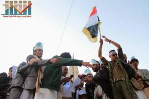 مسيرة انتهاء المهلة وبدء التصعيد الثوري التي انطلقت عصر اليوم 21فبراير من ساحة التغيير بصنعاء (129)