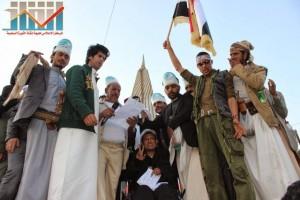 مسيرة انتهاء المهلة وبدء التصعيد الثوري التي انطلقت عصر اليوم 21فبراير من ساحة التغيير بصنعاء (131)
