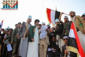 مسيرة انتهاء المهلة وبدء التصعيد الثوري التي انطلقت عصر اليوم 21فبراير من ساحة التغيير بصنعاء (132)