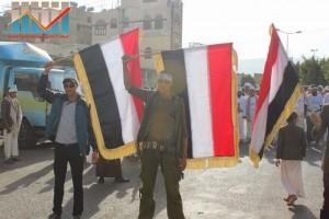 مسيرة انتهاء المهلة وبدء التصعيد الثوري التي انطلقت عصر اليوم 21فبراير من ساحة التغيير بصنعاء (14)