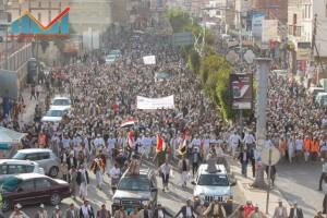 مسيرة انتهاء المهلة وبدء التصعيد الثوري التي انطلقت عصر اليوم 21فبراير من ساحة التغيير بصنعاء (26)