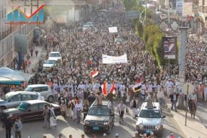 مسيرة انتهاء المهلة وبدء التصعيد الثوري التي انطلقت عصر اليوم 21فبراير من ساحة التغيير بصنعاء (27)