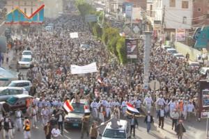 مسيرة انتهاء المهلة وبدء التصعيد الثوري التي انطلقت عصر اليوم 21فبراير من ساحة التغيير بصنعاء (30)