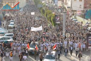 مسيرة انتهاء المهلة وبدء التصعيد الثوري التي انطلقت عصر اليوم 21فبراير من ساحة التغيير بصنعاء (31)
