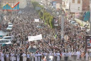 مسيرة انتهاء المهلة وبدء التصعيد الثوري التي انطلقت عصر اليوم 21فبراير من ساحة التغيير بصنعاء (35)