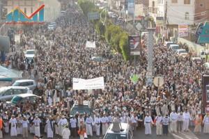 مسيرة انتهاء المهلة وبدء التصعيد الثوري التي انطلقت عصر اليوم 21فبراير من ساحة التغيير بصنعاء (36)