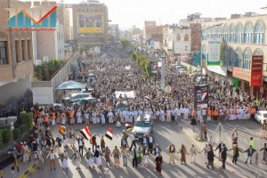 مسيرة انتهاء المهلة وبدء التصعيد الثوري التي انطلقت عصر اليوم 21فبراير من ساحة التغيير بصنعاء (37)