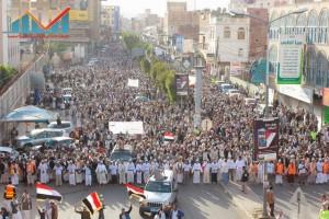 مسيرة انتهاء المهلة وبدء التصعيد الثوري التي انطلقت عصر اليوم 21فبراير من ساحة التغيير بصنعاء (38)