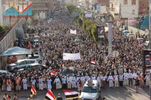 مسيرة انتهاء المهلة وبدء التصعيد الثوري التي انطلقت عصر اليوم 21فبراير من ساحة التغيير بصنعاء (40)