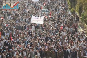 مسيرة انتهاء المهلة وبدء التصعيد الثوري التي انطلقت عصر اليوم 21فبراير من ساحة التغيير بصنعاء (49)