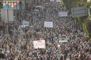 مسيرة انتهاء المهلة وبدء التصعيد الثوري التي انطلقت عصر اليوم 21فبراير من ساحة التغيير بصنعاء (53)
