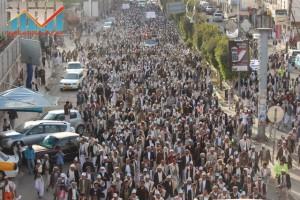 مسيرة انتهاء المهلة وبدء التصعيد الثوري التي انطلقت عصر اليوم 21فبراير من ساحة التغيير بصنعاء (58)