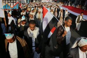 مسيرة انتهاء المهلة وبدء التصعيد الثوري التي انطلقت عصر اليوم 21فبراير من ساحة التغيير بصنعاء (76)