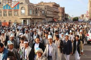 مسيرة انتهاء المهلة وبدء التصعيد الثوري التي انطلقت عصر اليوم 21فبراير من ساحة التغيير بصنعاء (82)