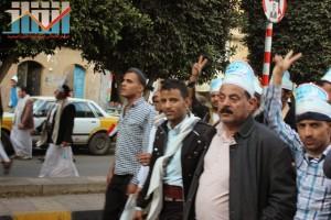 مسيرة انتهاء المهلة وبدء التصعيد الثوري التي انطلقت عصر اليوم 21فبراير من ساحة التغيير بصنعاء (91)