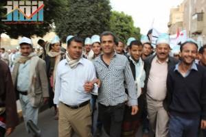 مسيرة انتهاء المهلة وبدء التصعيد الثوري التي انطلقت عصر اليوم 21فبراير من ساحة التغيير بصنعاء (97)