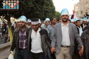 مسيرة انتهاء المهلة وبدء التصعيد الثوري التي انطلقت عصر اليوم 21فبراير من ساحة التغيير بصنعاء (99)
