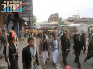 مسيرة حاشدة بصنعاء تطالب بإسقاط رموز الفساد وتأييدا للجيش في حربه ضد القاعدة (10)