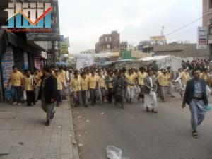 مسيرة حاشدة بصنعاء تطالب بإسقاط رموز الفساد وتأييدا للجيش في حربه ضد القاعدة (11)