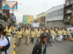 مسيرة حاشدة بصنعاء تطالب بإسقاط رموز الفساد وتأييدا للجيش في حربه ضد القاعدة (18)